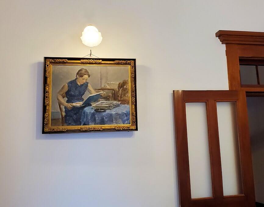 「豊平館」の一部屋の壁