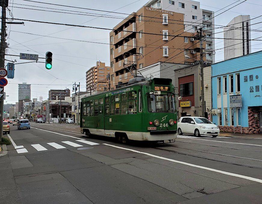 札幌市内を循環する路面電車