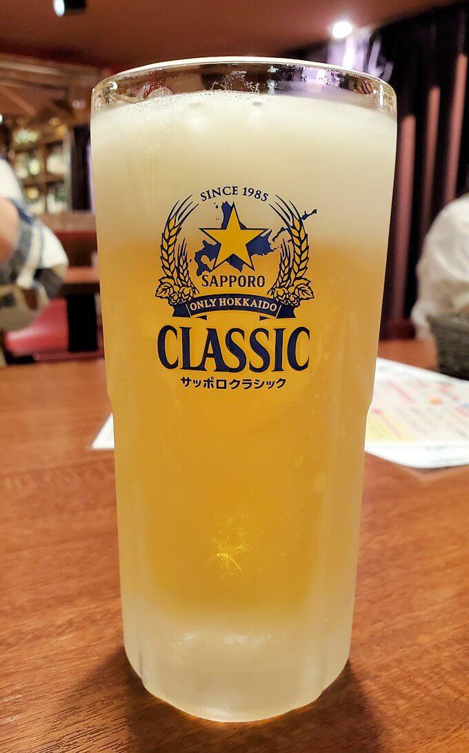 「ビストロます家 札幌店」での生ビール