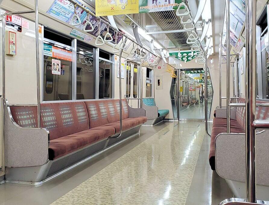 「宮の沢駅」まで地下鉄で向かう
