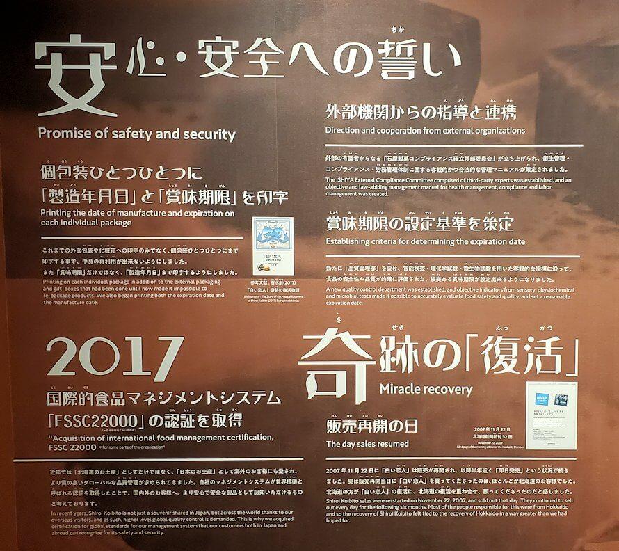 白い恋人パーク【チョコトピアマーケット】内の石屋製菓について