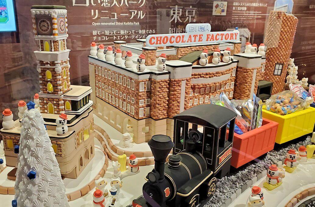 白い恋人パーク【チョコトピアマーケット】にあった模型