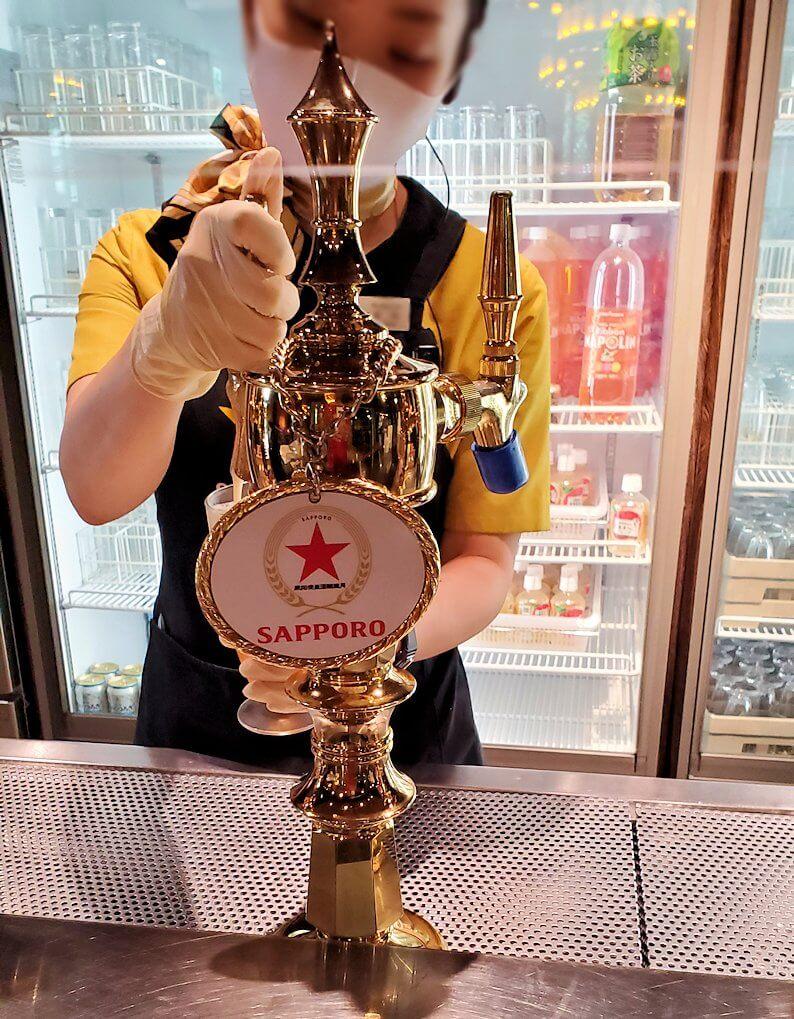 サッポロビール園博物館の試飲コーナー