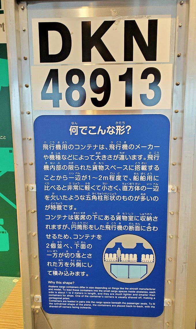 新千歳空港「大空ミュージアム」に展示されている、荷物コンテナー1