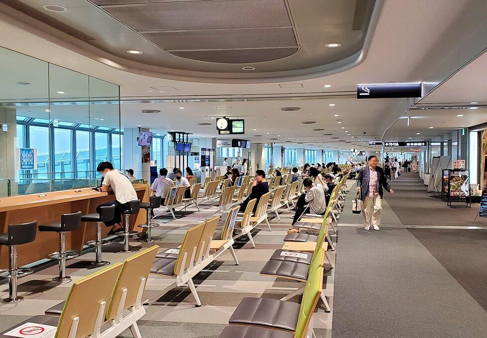新千歳空港の国内線ターミナルにて