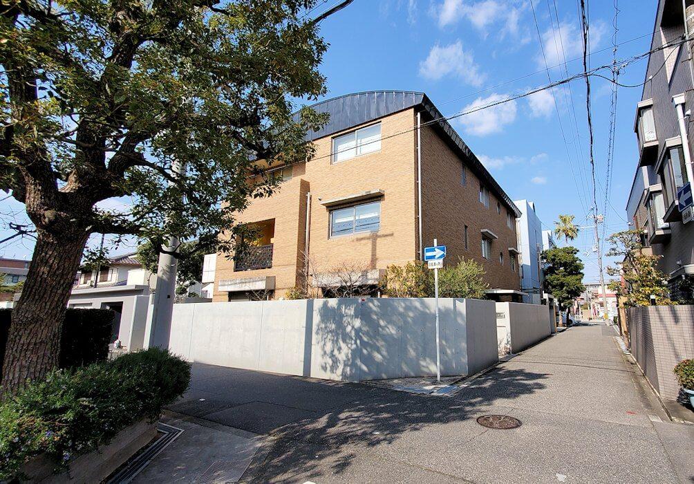 帝塚山一丁目で、竹鶴政孝が住んでいたと思われる場所
