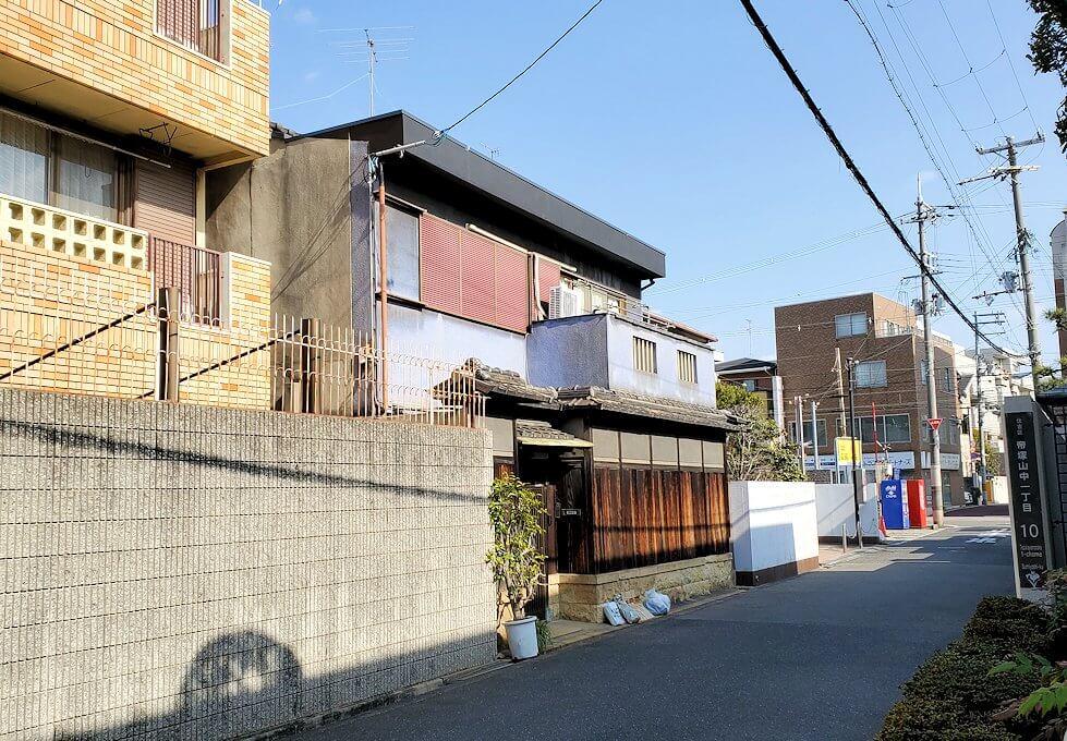帝塚山一丁目で、竹鶴政孝が住んでいたと思われる場所2