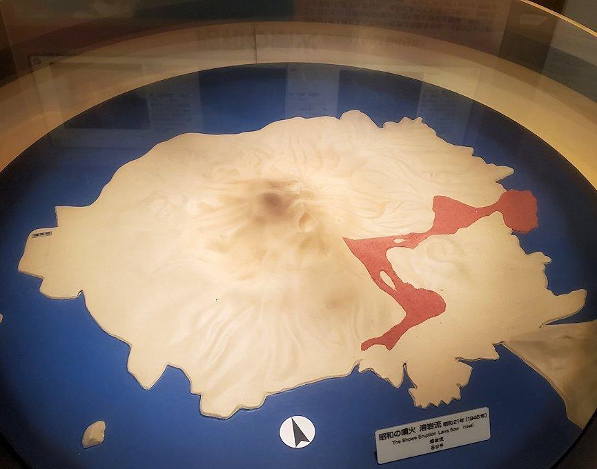 桜島の昭和21年(1946年)に噴火した時の溶岩の流れ