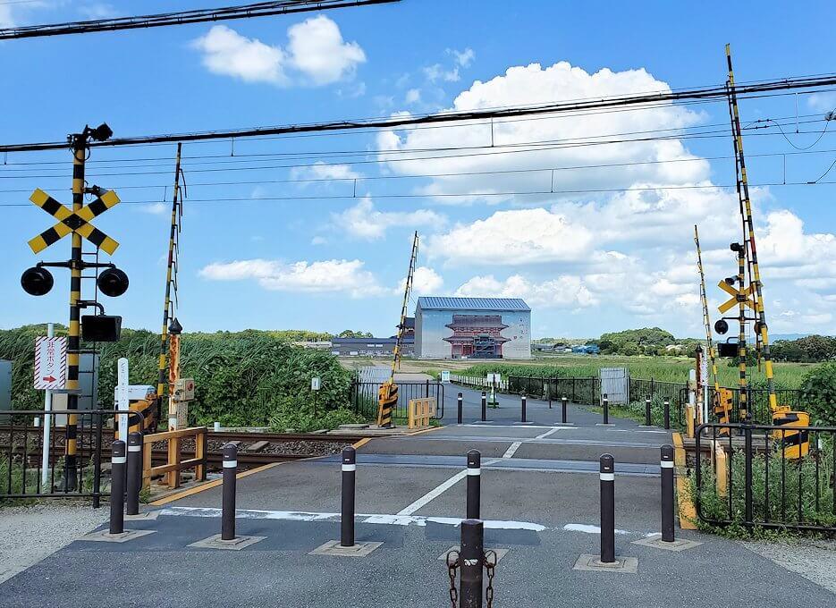 平城京跡を横断する線路1