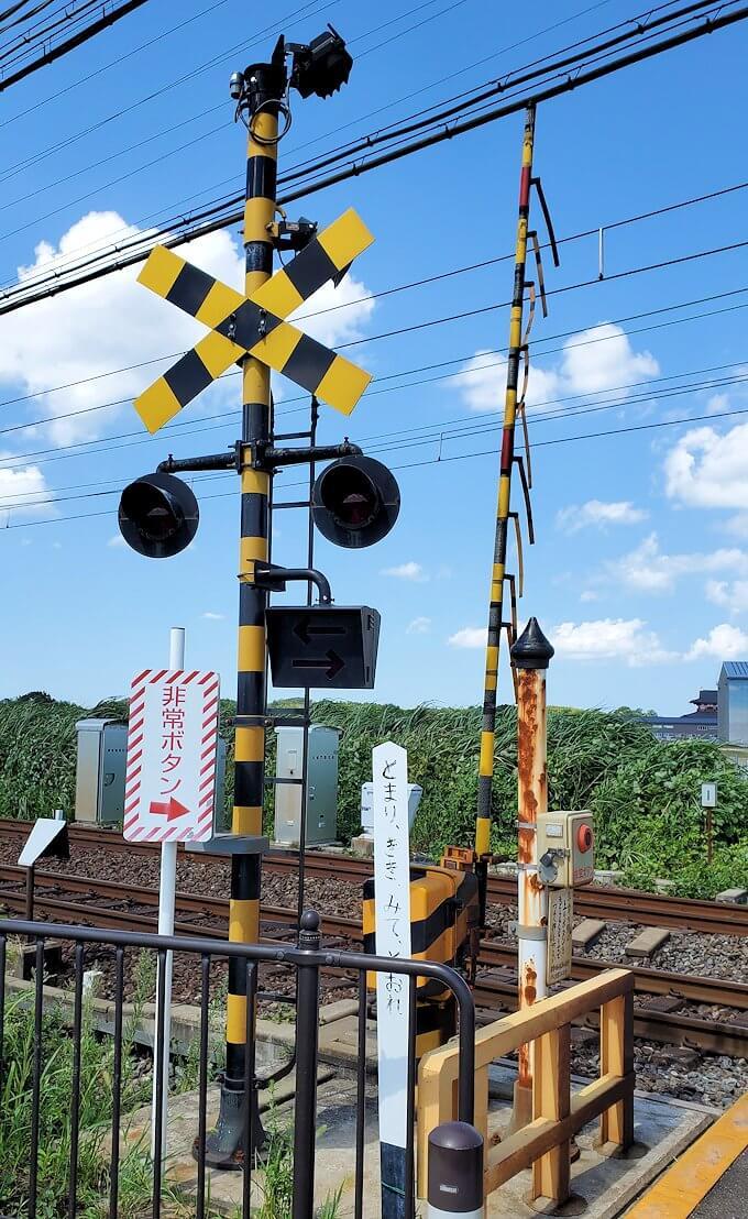 平城京跡を横断する線路2