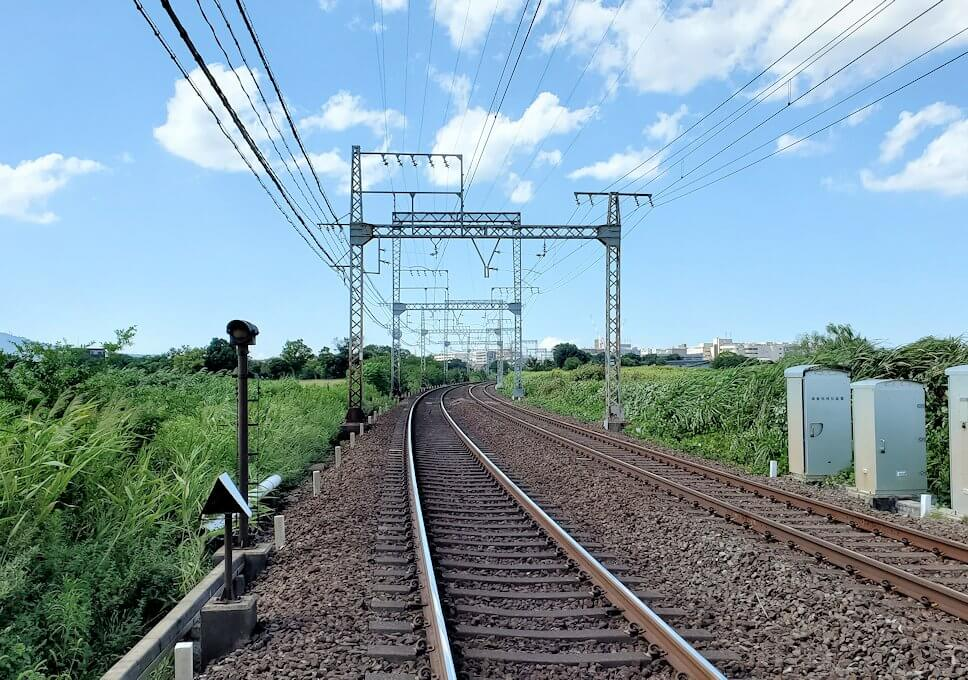平城京跡を横断する線路3