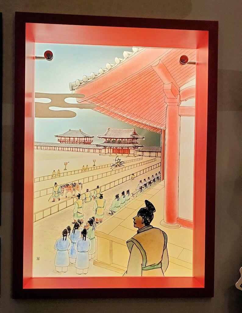 朱雀門広場「いざない館」内の展示物2