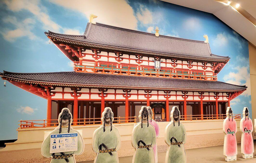 朱雀門広場「いざない館」内の展示模型2