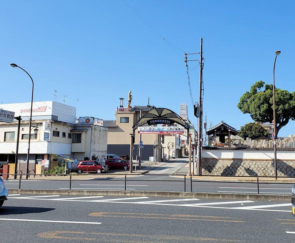 奈良駅近くの街