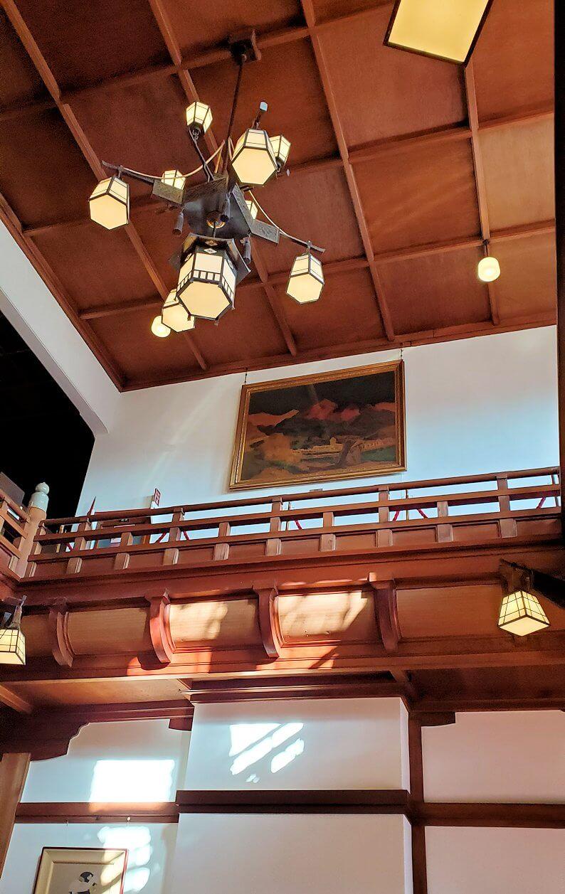 奈良ホテルの天井