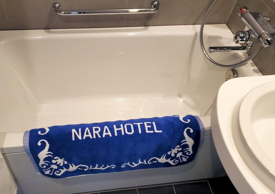 奈良ホテル本館の部屋のユニットバスの風呂