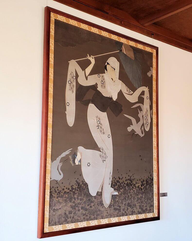 奈良ホテル本館の2階フロアに飾られている絵