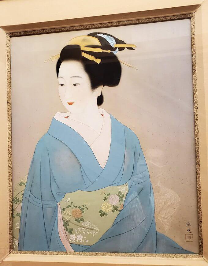 奈良ホテル内の廊下に飾ってある絵