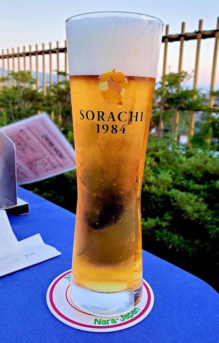 奈良ホテル:ビアテラスで出てきたビール