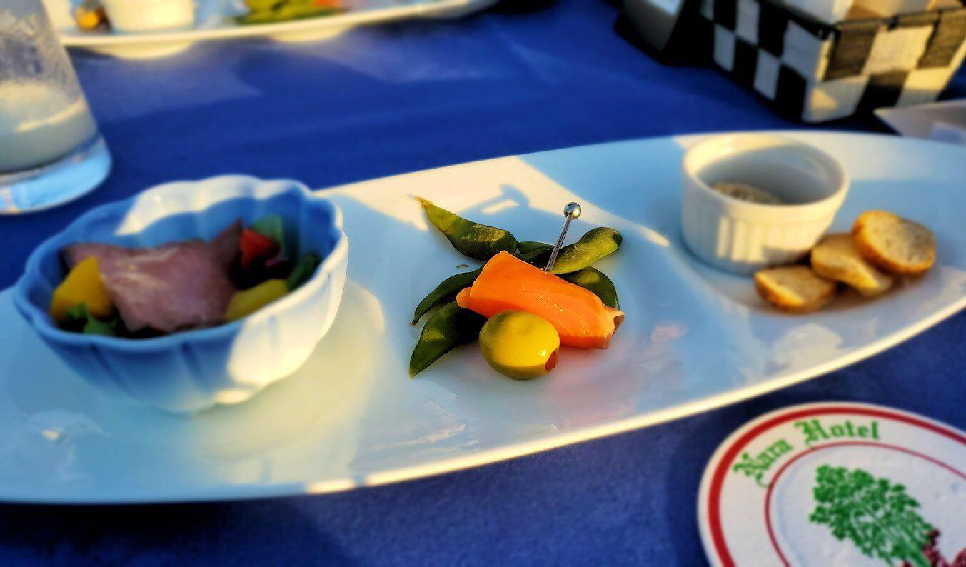 奈良ホテル:ビアテラスで出てきた食事
