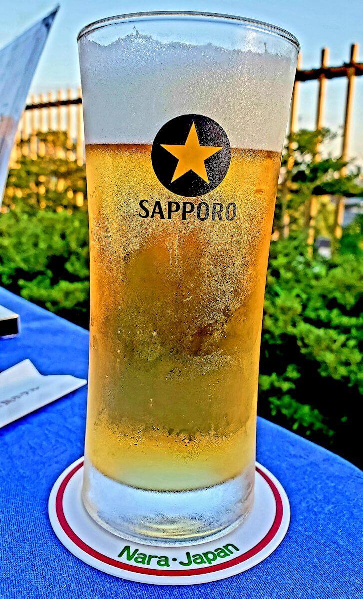 奈良ホテル:ビアテラスで出てきたビール1