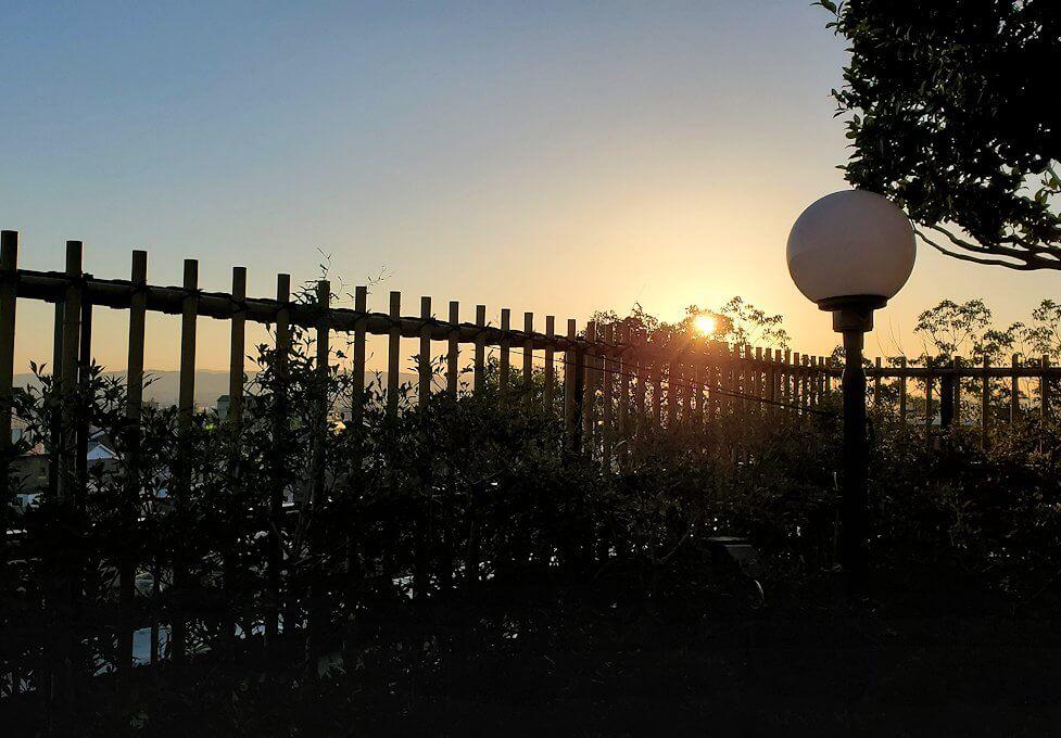 奈良ホテル:ビアテラスから見る夕陽