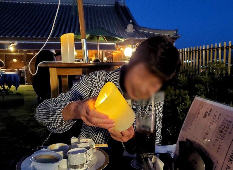 奈良ホテル:ビアテラスで楽しむオカン