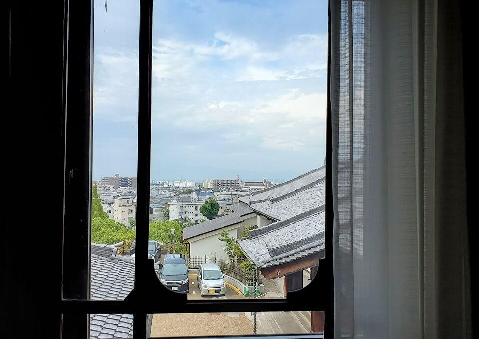 奈良ホテルの部屋からの眺め