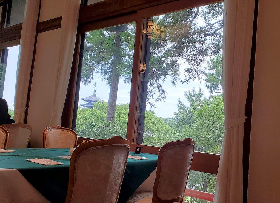 奈良ホテルメインダイニングルーム「三笠」からの景色