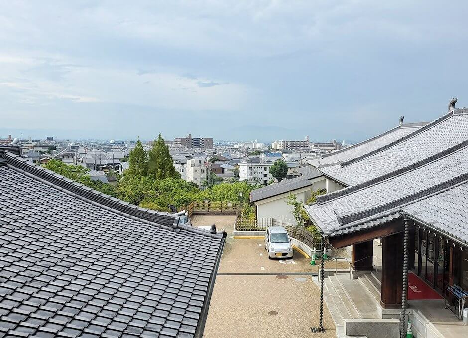 奈良ホテルの部屋から見える景色