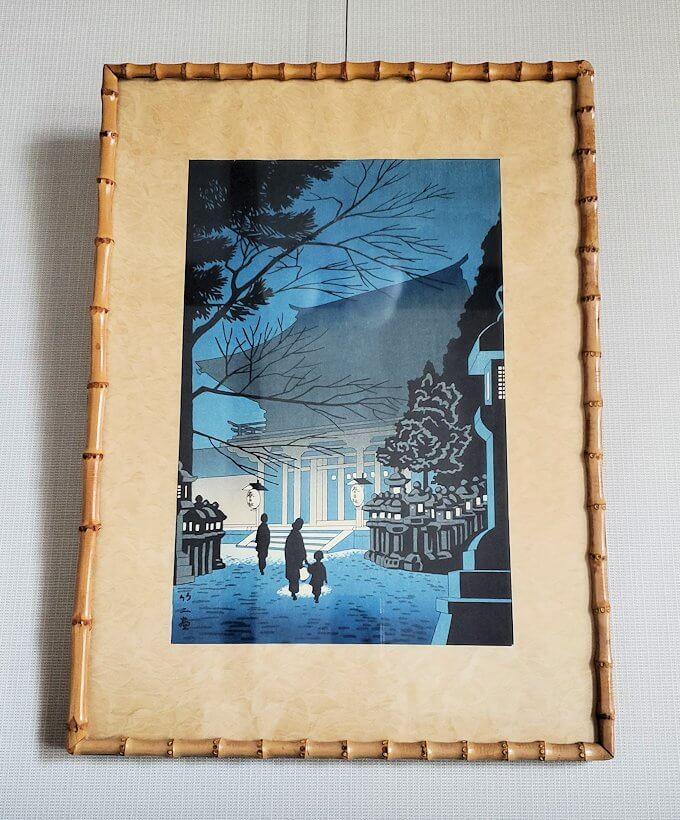 奈良ホテルの部屋に飾られている絵