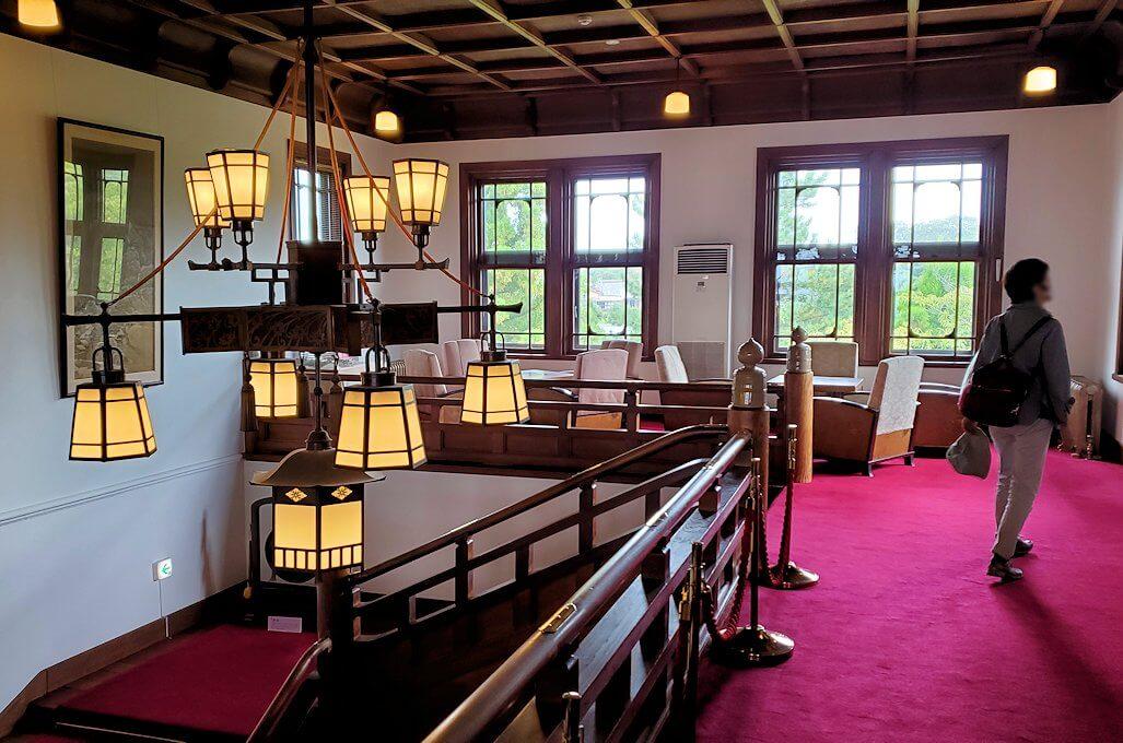 奈良ホテルの2階ロビー