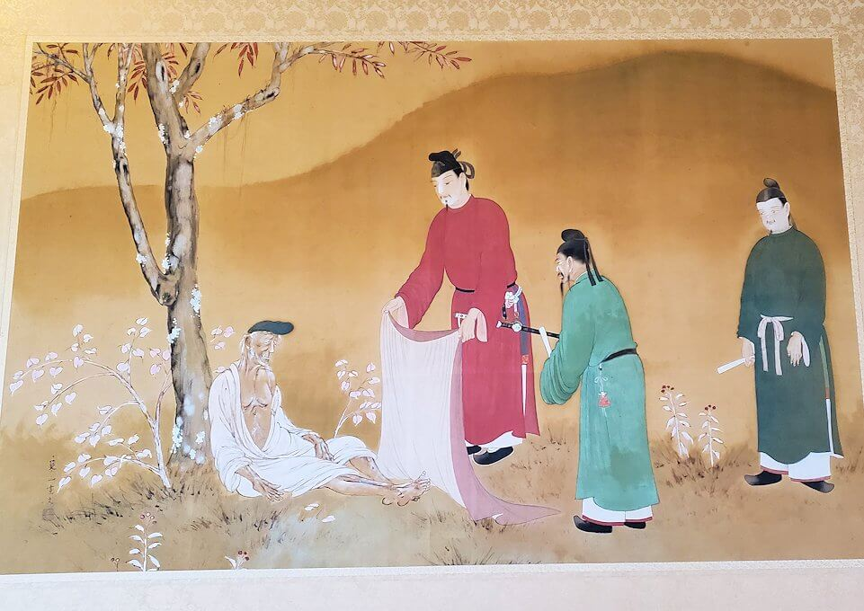 奈良ホテルの2階ロビーにあった絵