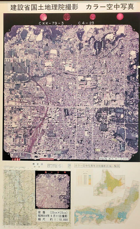 「ならまち」の資料保存館の航空写真