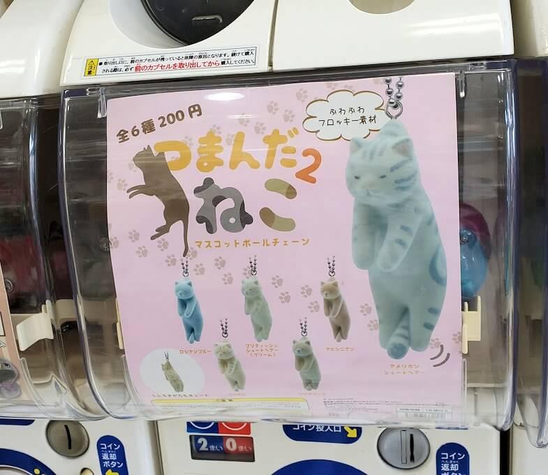 奈良「下御門商店街」にあったガチャガチャ店の猫ガチャマシーン1