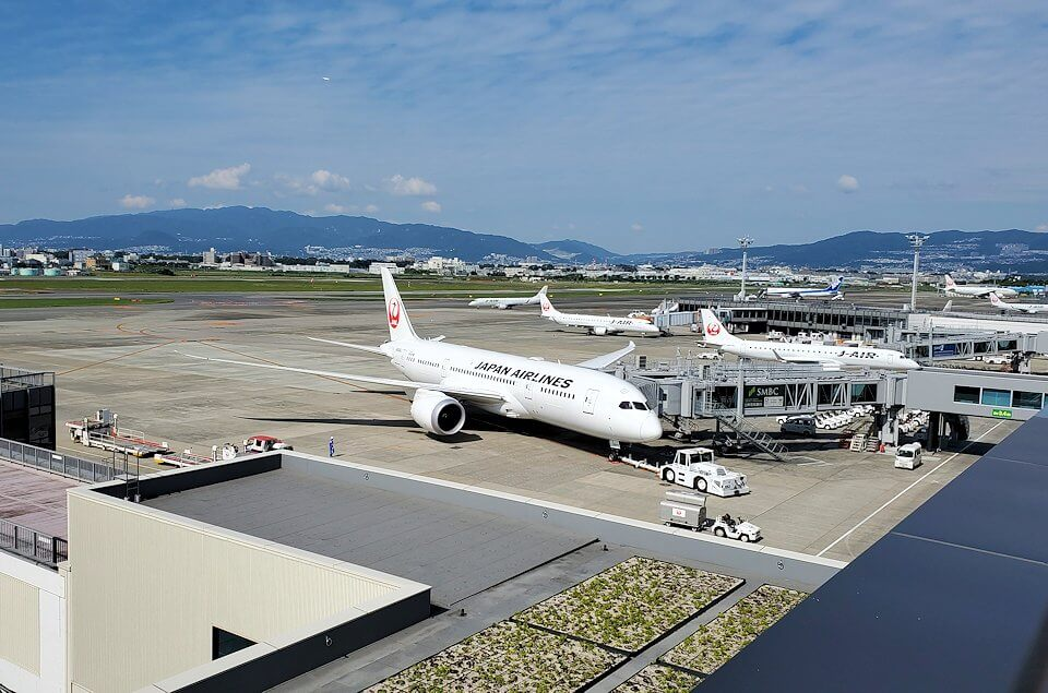 伊丹空港の展望台からの景色