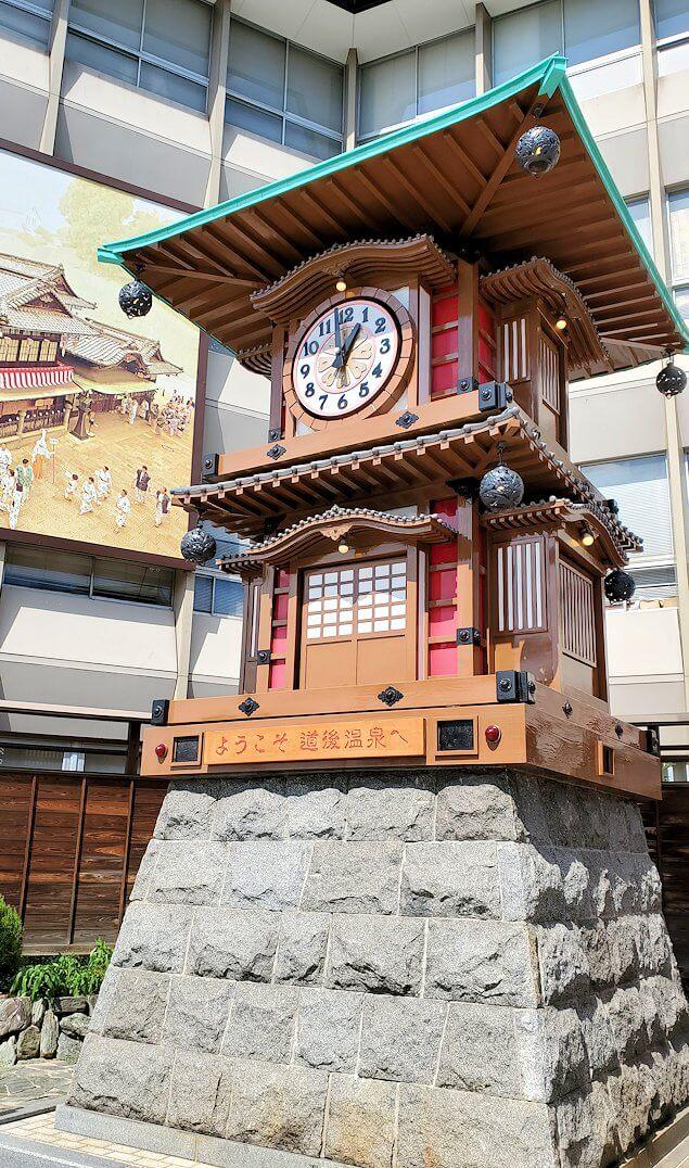 道後温泉正面の広場にあるからくり時計
