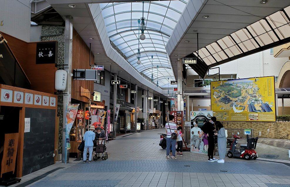 道後温泉の商店街