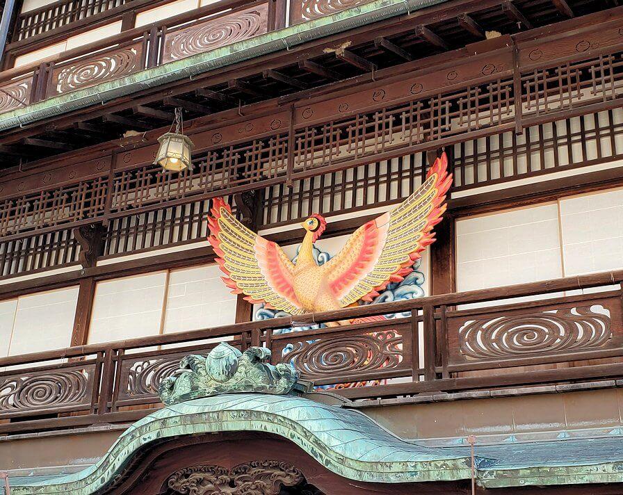 道後温泉本館に飾られている火の鳥