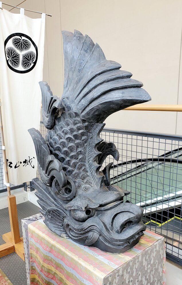 松山城に飾られていた鯱1