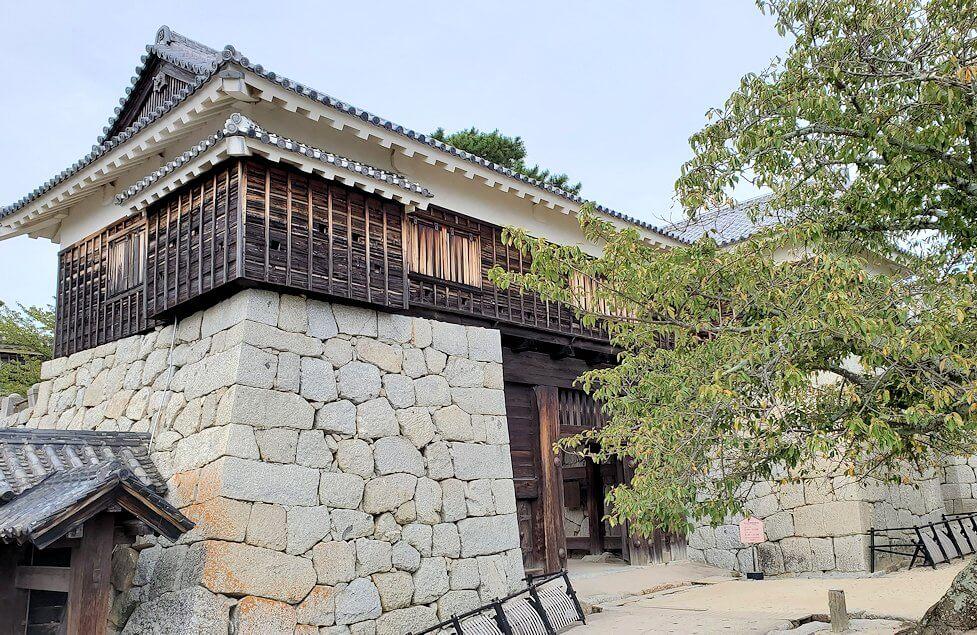 松山城本丸への入口である「筒井門」