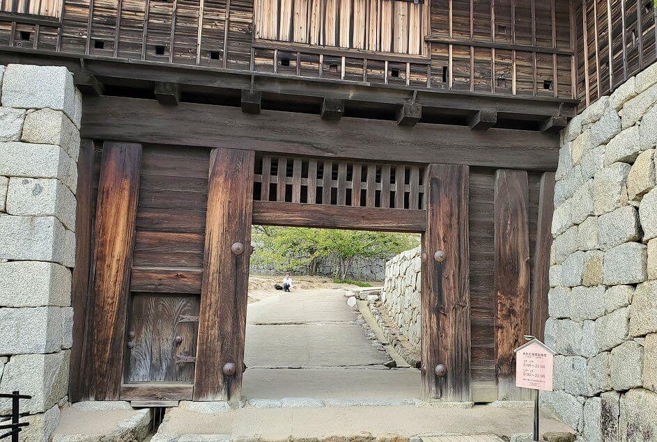 松山城筒井門のアップ