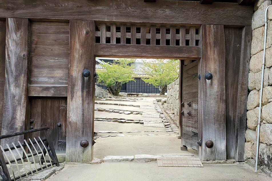 松山城太鼓門のアップ写真