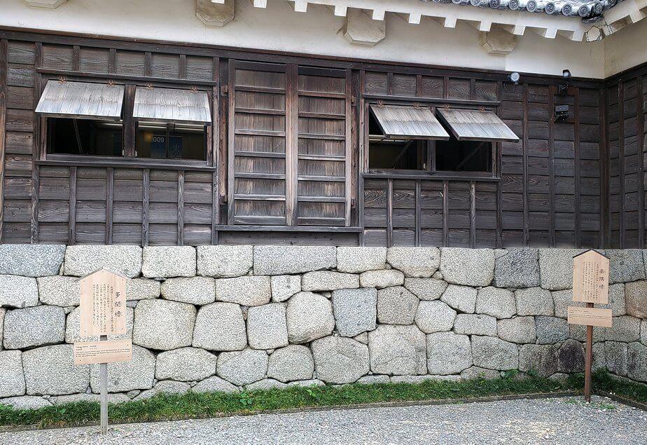 松山城大天守の内側の櫓