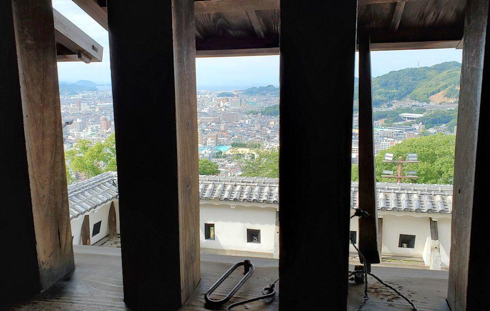 松山城大天守内の2階からの眺め1