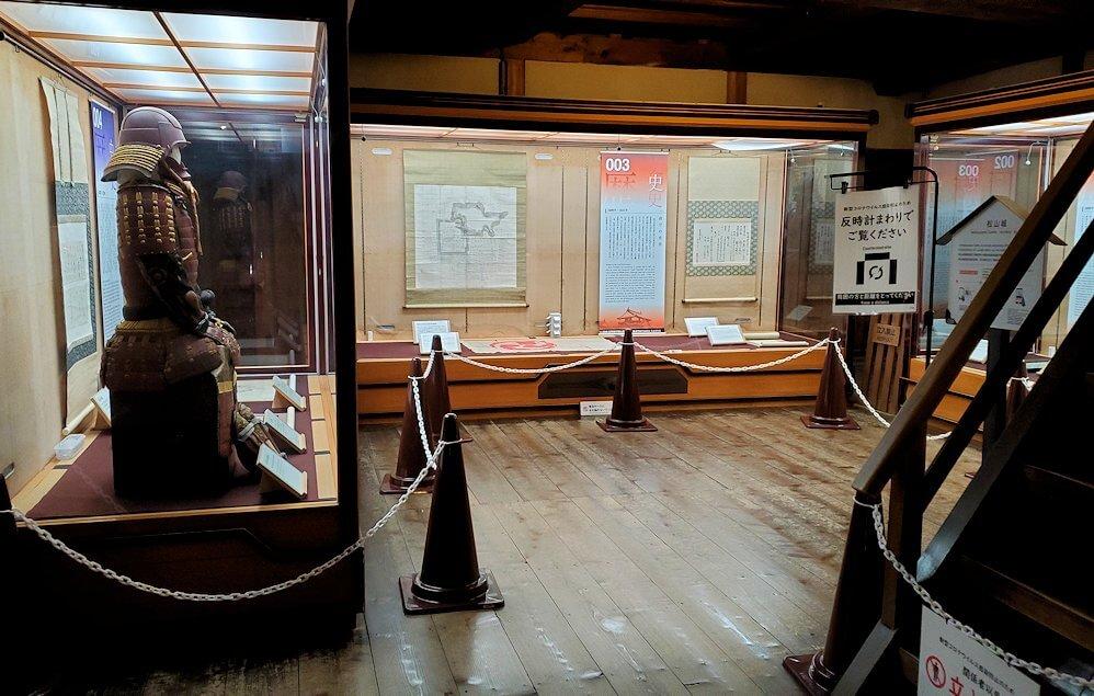 松山城大天守内の2階の部屋