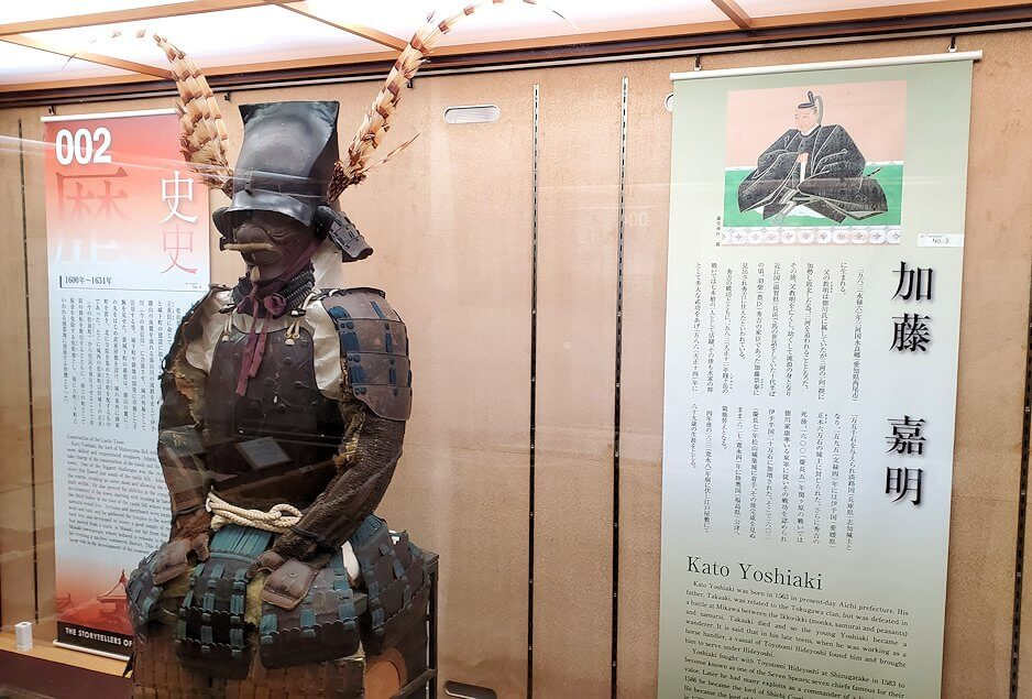 松山城大天守内の2階の展示品など