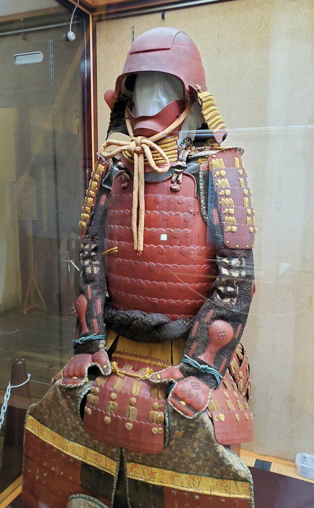 松山城大天守内の展示品、の鎧