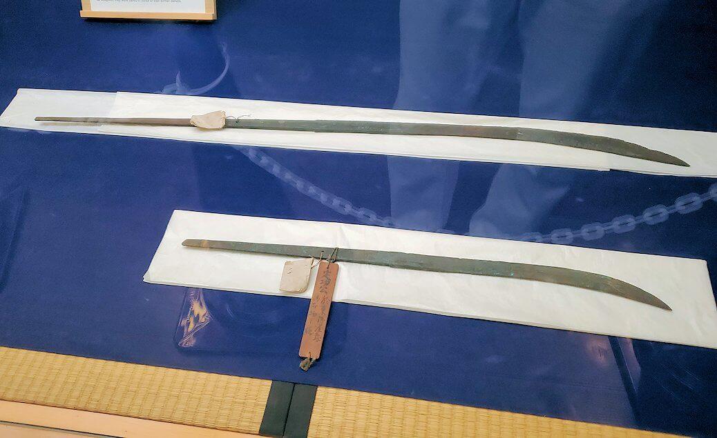 松山城天守閣内の展示されている刀