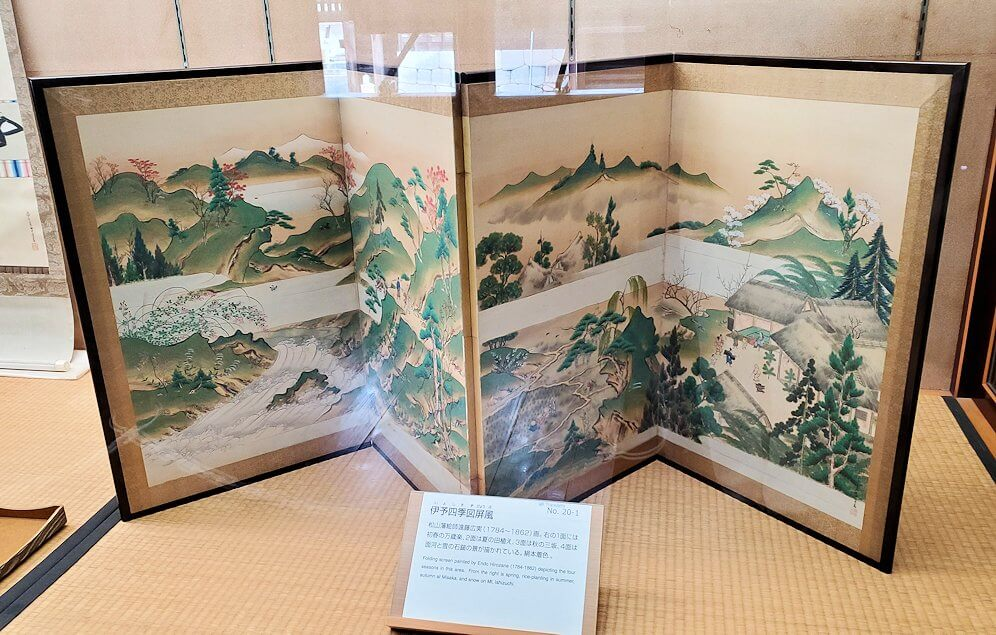松山城天守閣内の展示されている絵